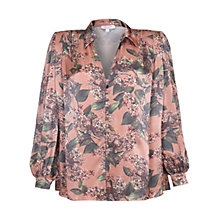 Buy Ghost Isla Printed Satin Blouse, Elisa Bloom Online at johnlewis.com