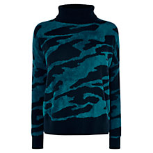 Buy Karen Millen Velvet Pattern Jumper, Black/Multi Online at johnlewis.com