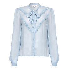 Buy Ghost Danice Georgette Blouse, Faded Blue Online at johnlewis.com