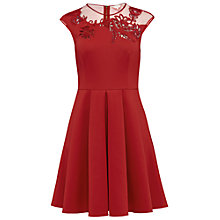 Buy Ted Baker Dollii Embroidered Mesh Detail Skater Dress Online at johnlewis.com