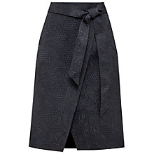 Buy Ted Baker Soloaa Jacquard Wrap Skirt, Black Online at johnlewis.com
