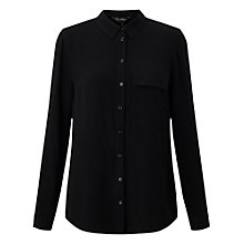 Buy Miss Selfridge Military Shirt, Black Online at johnlewis.com