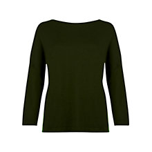 Buy Hobbs Jenny Jumper, Khaki Online at johnlewis.com