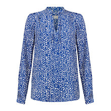 Buy Hobbs Henrietta Top, Cobalt/Ivory Online at johnlewis.com