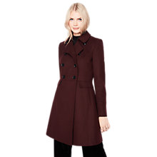 Buy Miss Selfridge Double Breasted Coat, Burgundy Online at johnlewis.com