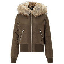 Buy Miss Selfridge Puffer Bomber Jacket Online at johnlewis.com