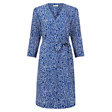 Buy Hobbs Henrietta Dress, Cobalt/Ivory Online at johnlewis.com