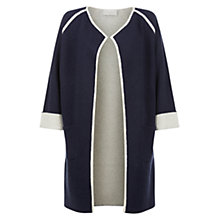 Buy Hobbs Emmy Knit Jacket, Navy/Neutral Online at johnlewis.com