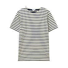 Buy Jigsaw Two Scale Stripe T-Shirt, Navy Online at johnlewis.com