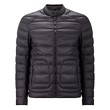 Buy Belstaff Halewood Down Jacket, Black Online at johnlewis.com