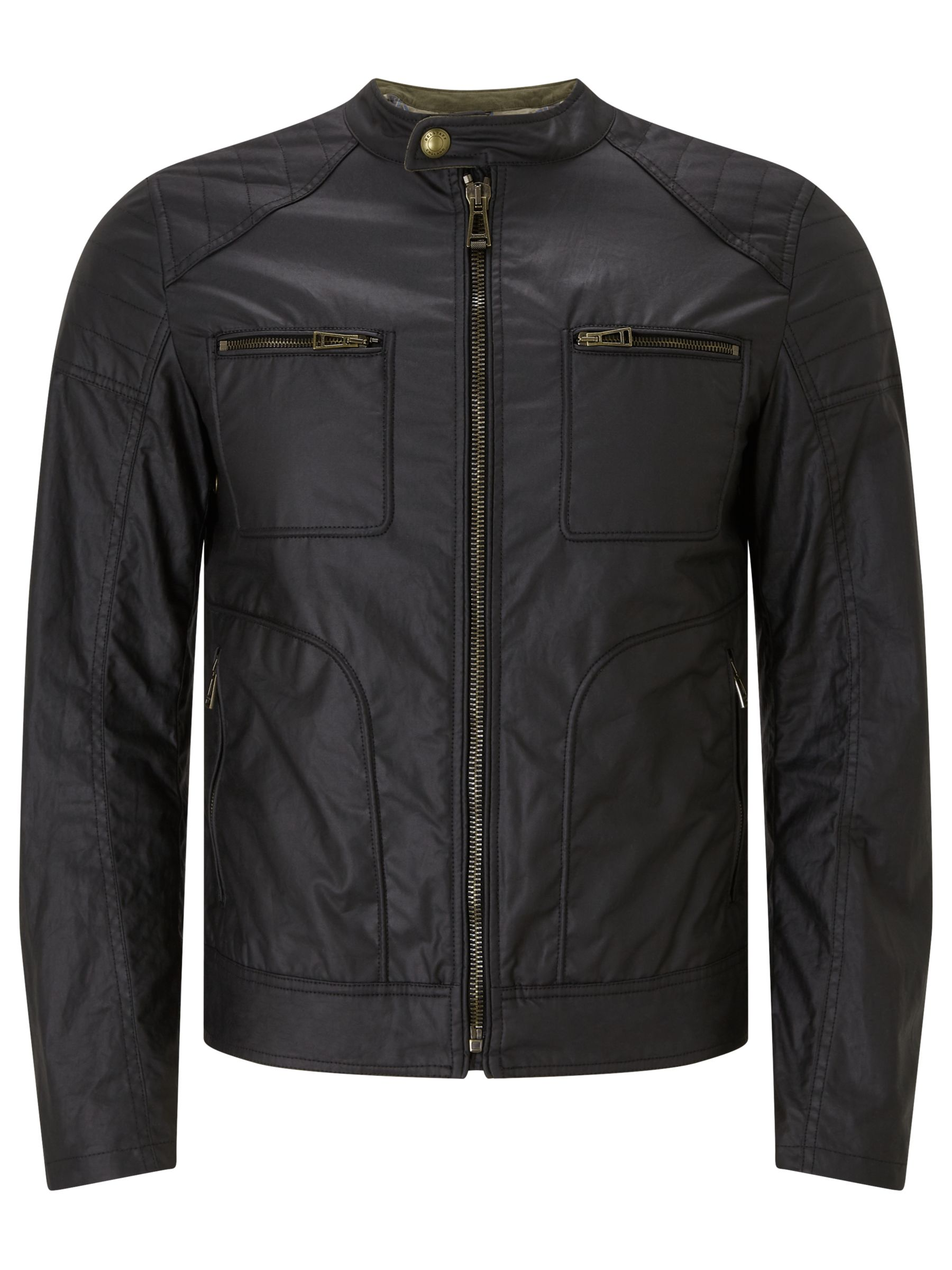 Belstaff Belstaff Weybridge Rubberized Jersey Jacket, Black