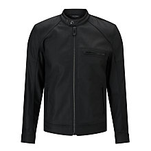 Buy Belstaff Beckford Cotton Twill Waxed Jacket, Black Online at johnlewis.com