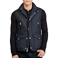 Buy Polo Ralph Lauren Diamond-Quilted Gilet, College Navy Online at johnlewis.com