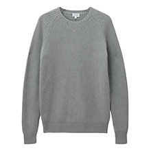 Buy Jigsaw Cotton Fisherman Rib Crew Jumper Online at johnlewis.com