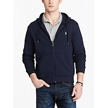 Buy Polo Ralph Lauren LSL-KNT Full Zip Hoodie, Aviator Navy Online at johnlewis.com