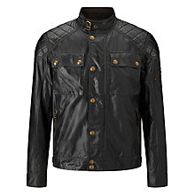 Buy Belstaff Champion Leather Blouson, Black Online at johnlewis.com