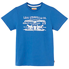 Buy Levi's Boys' Logo T-Shirt, Blue Online at johnlewis.com