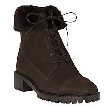 Buy L.K. Bennett Alaska Lace Up Ankle Boots, Chocolate Online at johnlewis.com