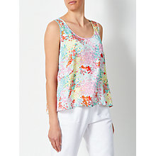 Buy Collection WEEKEND by John Lewis Confetti Print Mimosa Vest, Pink/Yellow Online at johnlewis.com