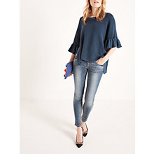 Buy AND/OR Poncho Bell Sleeve Jumper, Deep Blue Online at johnlewis.com