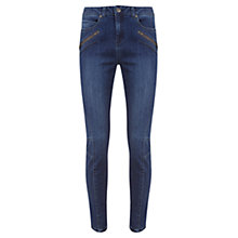 Buy Mint Velvet Darby Biker Jeans, Authentic Indigo Online at johnlewis.com
