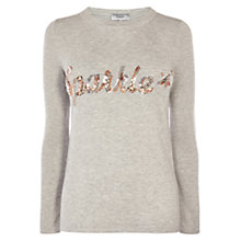 Buy Coast Sparkle Sequin Jumper, Grey Online at johnlewis.com