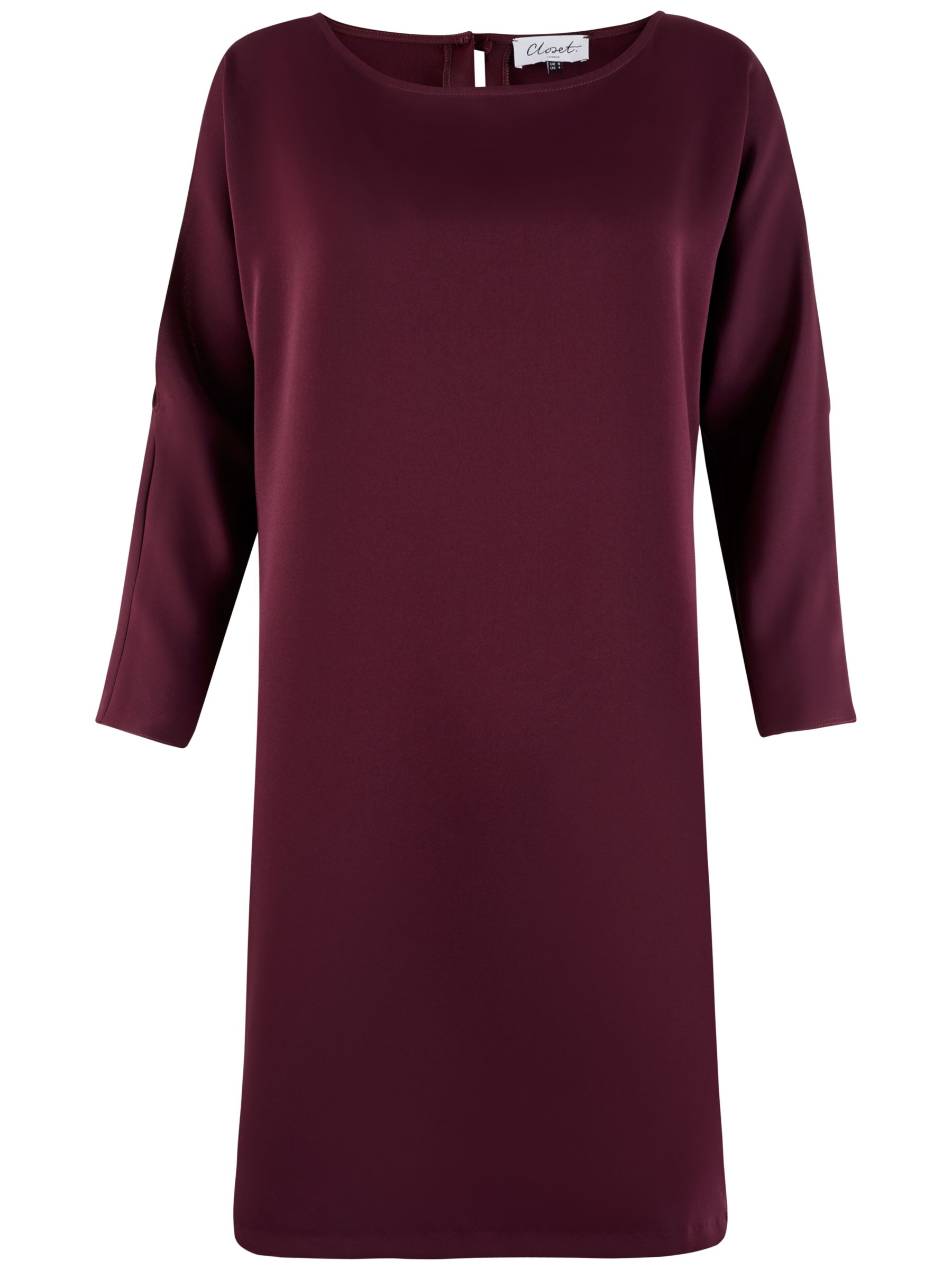 Closet Closet Cold Shoulder Tunic Dress, Plum