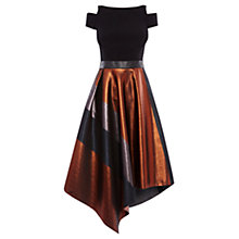 Buy Coast Shorter Length Fran Metallic Stripe Dress, Multi Online at johnlewis.com