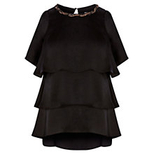 Buy Coast Turner Cold Shoulder Top, Black Online at johnlewis.com
