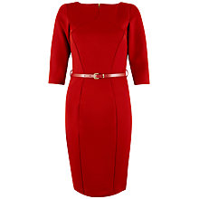 Buy Closet Panel Belted Bodycon Dress, Red Online at johnlewis.com