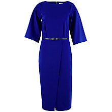 Buy Closet Wrap Front Kimono Sleeve Dress, Blue Online at johnlewis.com