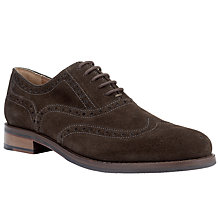 Buy John Lewis Bentley Suede Lace-Up Brogues, Coffee Online at johnlewis.com