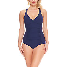 Buy Zoggs Trinity Twistback Swimsuit, Navy Online at johnlewis.com