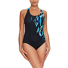 Buy Zoggs Broulee Flyback Swimsuit, Green Online at johnlewis.com