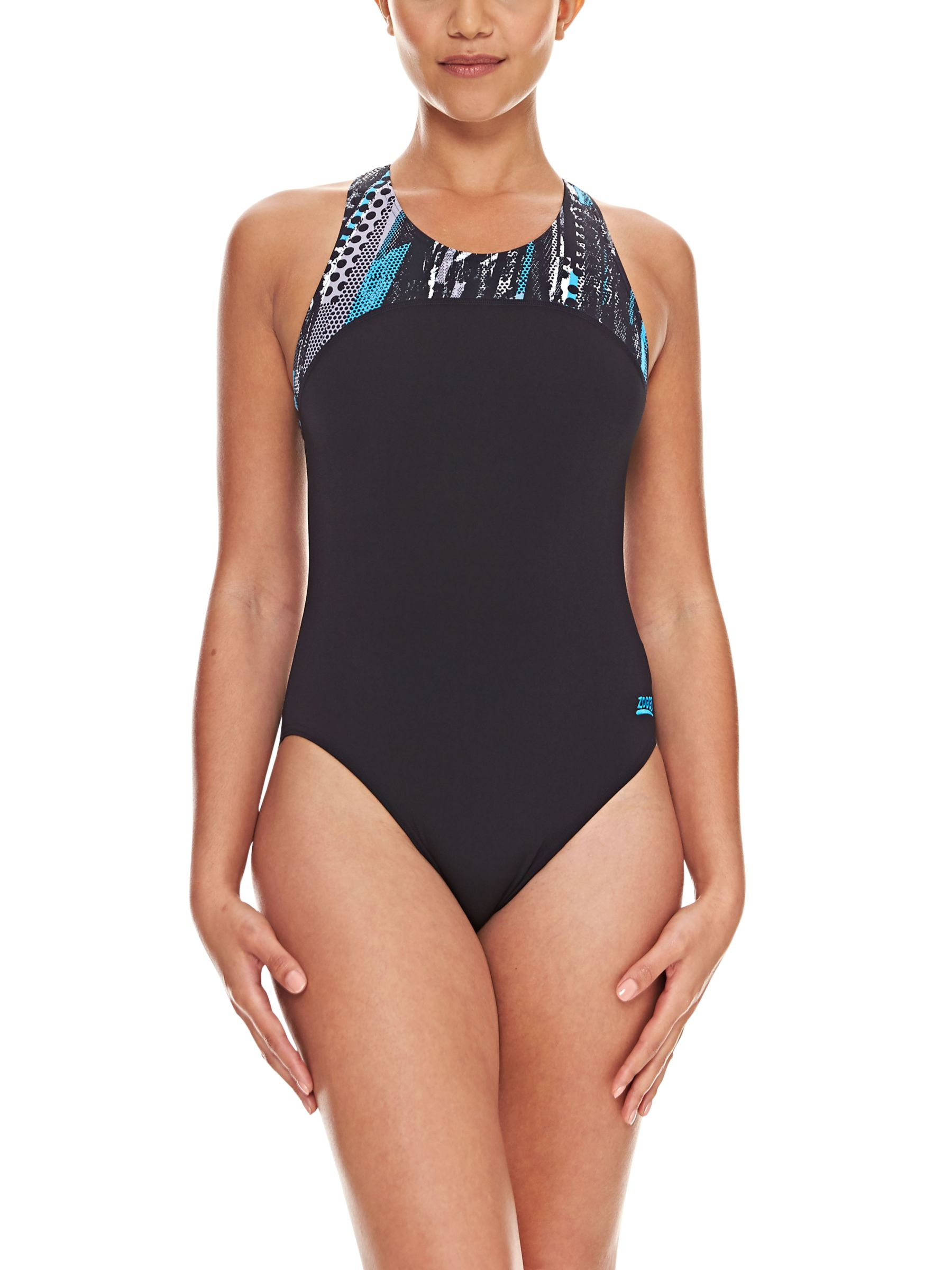 Zoggs Zoggs Minnamurra Zipped Back Swimsuit, Black