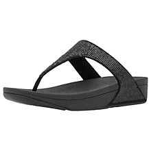 Buy FitFlop Electra Micro Toe-Post Flip Flops, Black Online at johnlewis.com