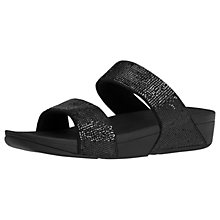 Buy FitFlop Electra Micro Slide Sandals, Black Online at johnlewis.com