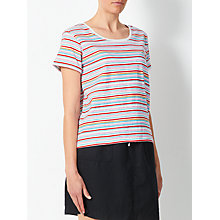 Buy Collection WEEKEND by John Lewis Mini Brush Stroke T-Shirt, White/Multi Online at johnlewis.com