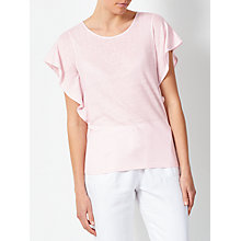 Buy Collection WEEKEND by John Lewis Frill Side Linen Jersey Top Online at johnlewis.com