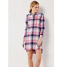 Buy White Stuff Cosy Check Night Shirt, Pretty Pink Online at johnlewis.com