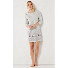 Buy White Stuff Whimsical Jersey Night Dress, Grey Marl Online at johnlewis.com