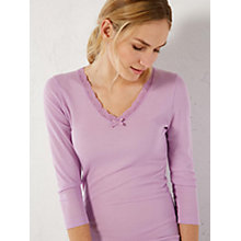 Buy White Stuff Icicle 3/4 Sleeve Pyjama Top Online at johnlewis.com