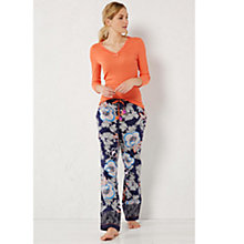 Buy White Stuff Blossom Flower Pyjama Bottoms, French Navy Online at johnlewis.com