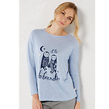 Buy White Stuff Lets Hibernate Pyjama Top, Cornflower Blue Online at johnlewis.com