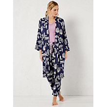 Buy White Stuff Oriental Night Kimono Robe, French Navy Online at johnlewis.com