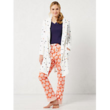 Buy White Stuff Spot The Dot Robe, Comfort Cream Online at johnlewis.com