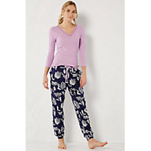 Buy White Stuff Oriental Night Pyjama Bottoms, French Navy Online at johnlewis.com