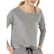 Buy White Stuff Frosty Stripe Pyjama Top, Charcoal Marl Online at johnlewis.com