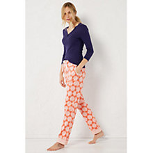 Buy White Stuff Snowflake Pyjama Bottoms, Satsuma Orange Online at johnlewis.com