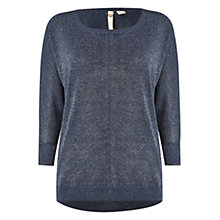 Buy White Stuff Diamond Night Knit Top, Navy Online at johnlewis.com